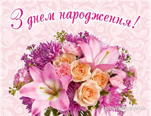Привітання з днем народження